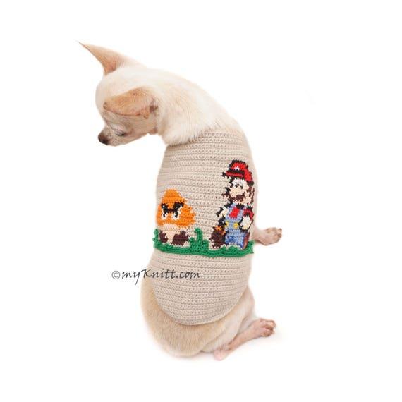 Mario Bros Häkeln Hundepullover Mario Bros Cross Stitch Etsy