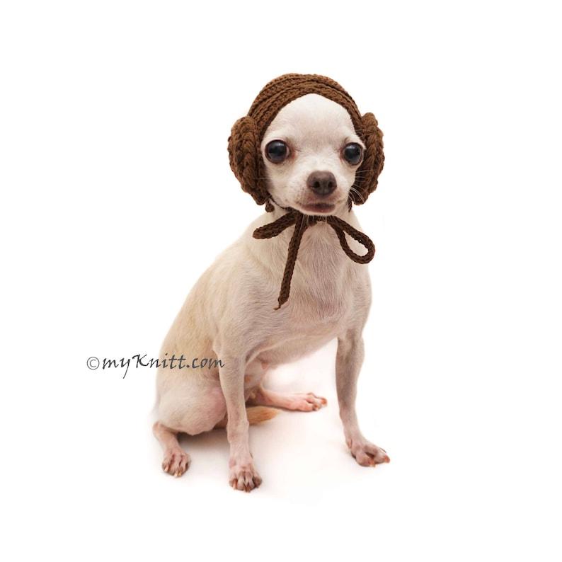 Cat Hats Dog Hats Winter DW2 Myknitt Boudoir Hat Chihuahua Hats Dog Hat Crochet Princess Leia Dog Wigs Free Shipping Dog Hats