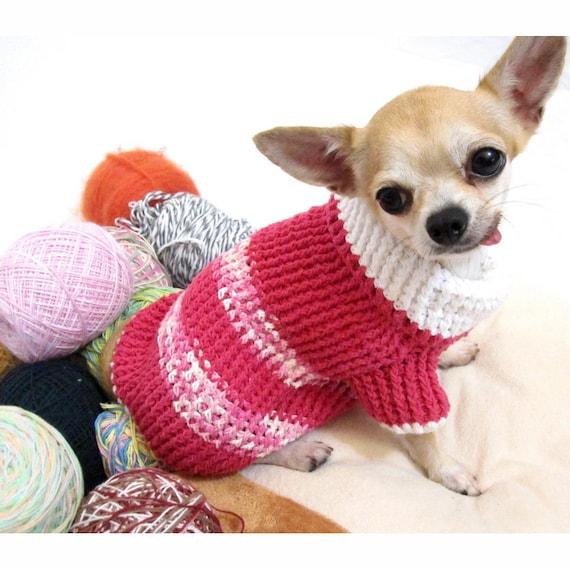 Rosa Hundepullover warme Strickpullover Welpen Kleidung | Etsy