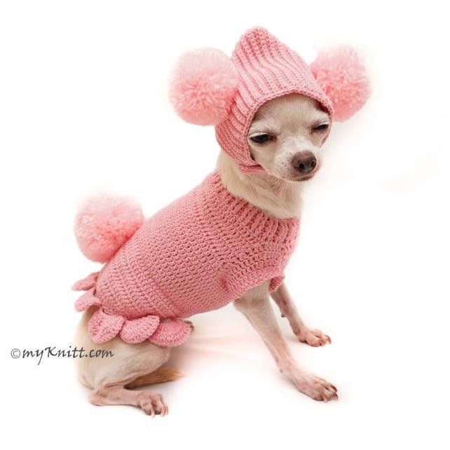 Rosa Hundebekleidung süßes Haustier Häschen mit Pom Pom Hund   Etsy