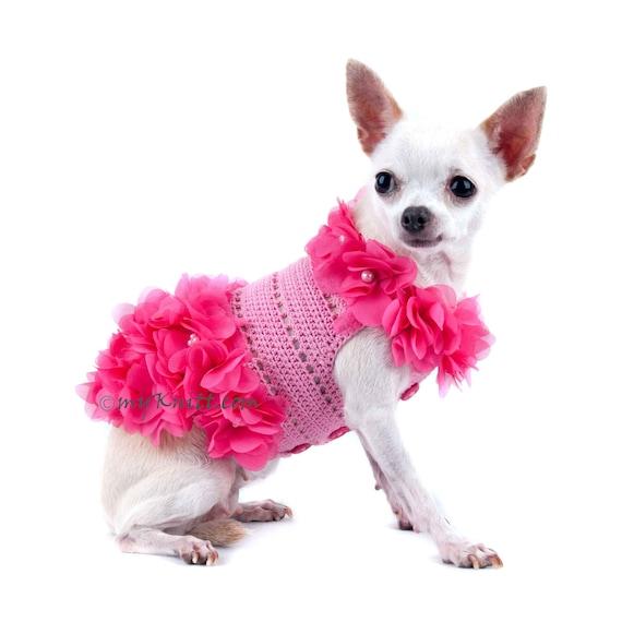 Hund Kleid Rosa Hund Kleidung Blumen Haustier Kleidung Welpen   Etsy