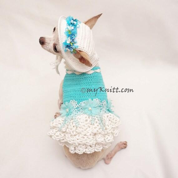 Pascua del perro perro vestido de Dama de honor Crochet | Etsy