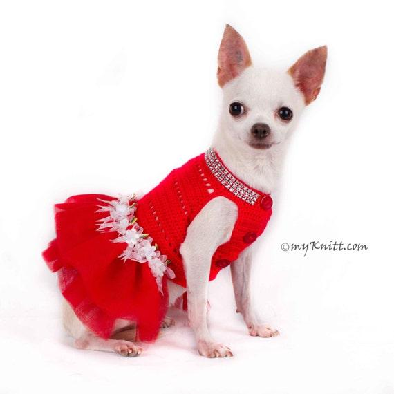 Rote Hund Tutu Weihnachten Hund Hund Kleid Hochzeit Kleid   Etsy