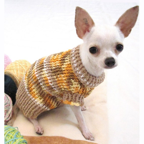 Rustic Cotton Dog Sweater Chihuahua Puppy Clothes Teacup Etsy