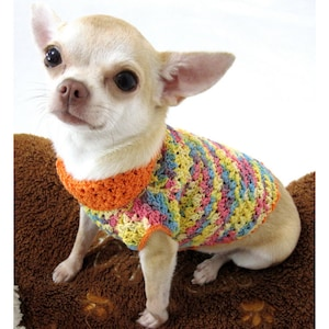 Summer Dog Clothes DK819 Myknitt Dog Coats Small Dachshund Clothes Chihuahua Clothes Turquoise Dog Dress Teal Dog Clothes Crochet