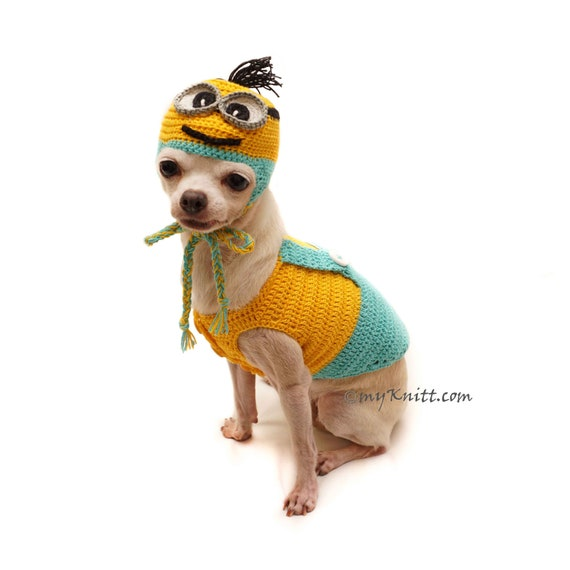 minion dog costume with arms