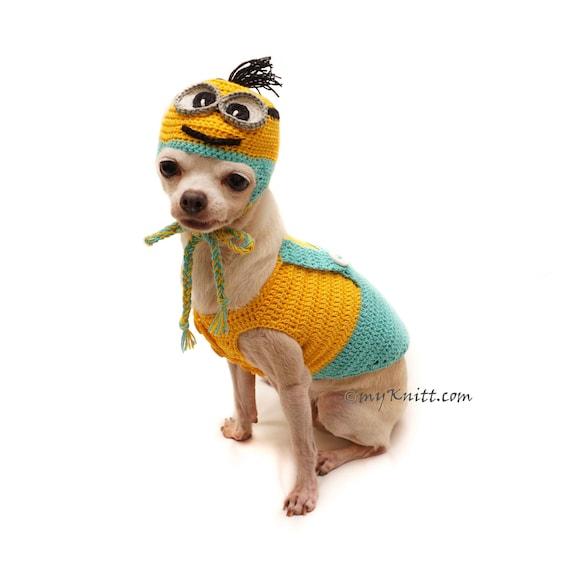 Günstling Hundebekleidung häkeln Minion Hund Hut häkeln | Etsy