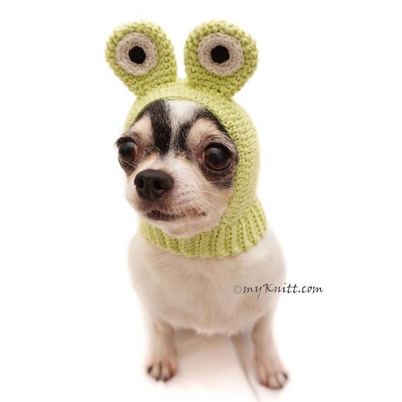 Hund Mütze Hut Häkeln Frosch Lustige Tier Hüte Hund Etsy