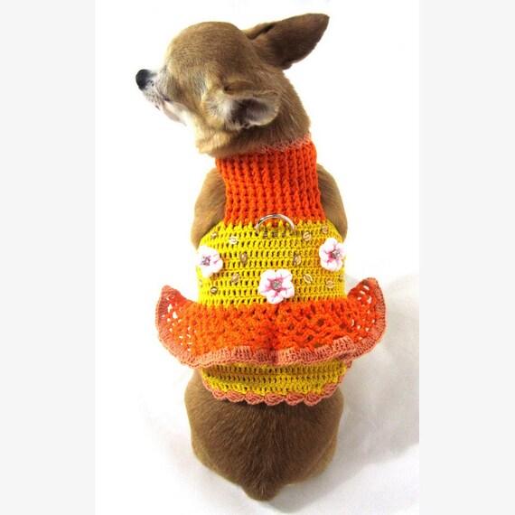 Niedlichen Hundebekleidung Häkeln Kleid Tutu Haustier Kleid   Etsy