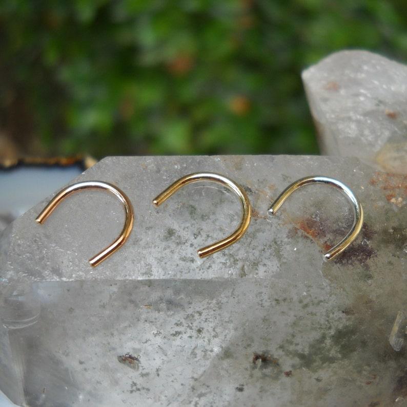 Septum Retainer  Retainer  Nose Retainer  14K Rose Gold image 0