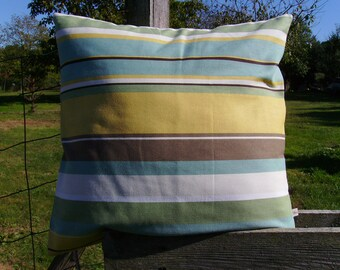 Sale striped pillow, modern pillow cover, teal pillow cover, stripe cushion cover, mustard pillow cover, stripe pillow cover
