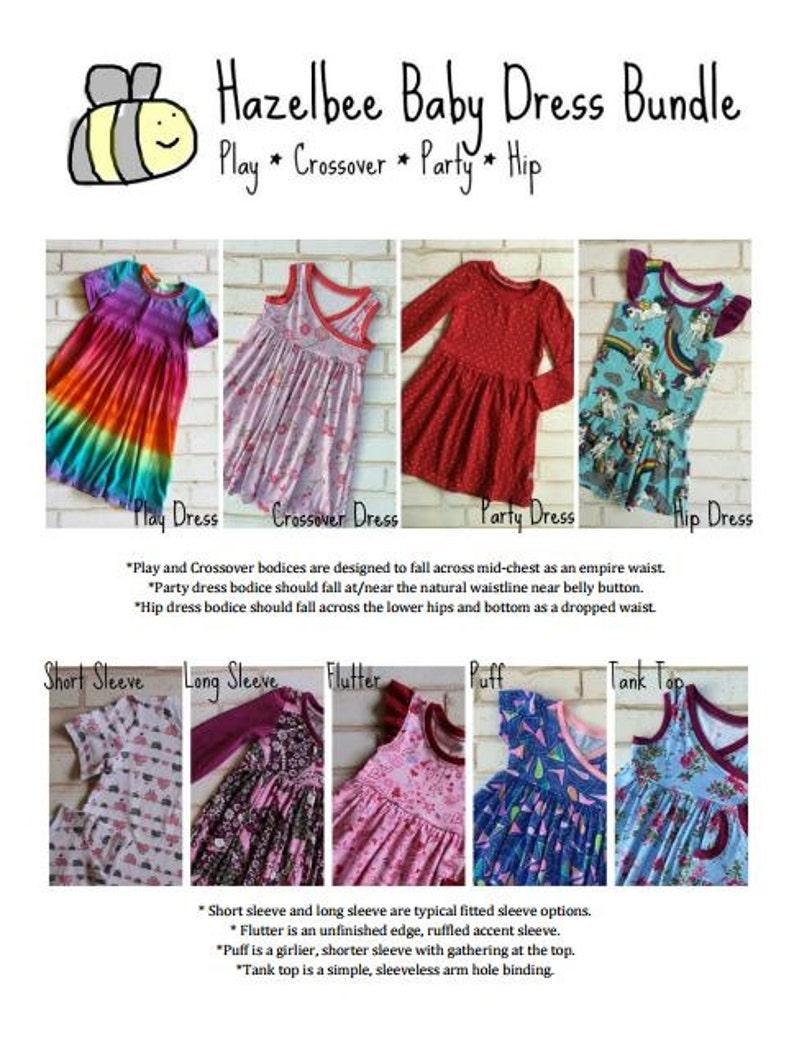 ee87565d7f93 Hazelbee Baby Dress Pattern Bundle
