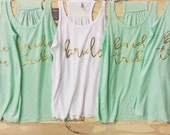 Bridal Party Tanks - Personalized front - perfect for bachelorette parties and bridal parti