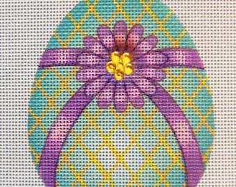 Emerald Egg Needlepoint Canvas