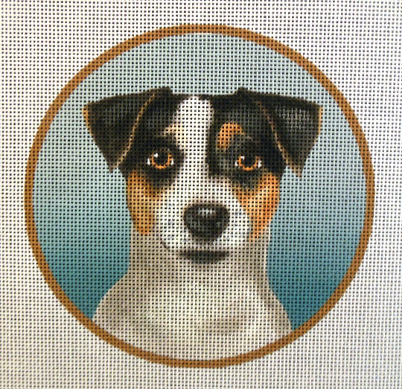 Jack Russell Terrier Needlepoint Canvas