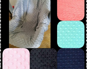 Carseat Minky Cover For Infant Pick From Lots Of Colors