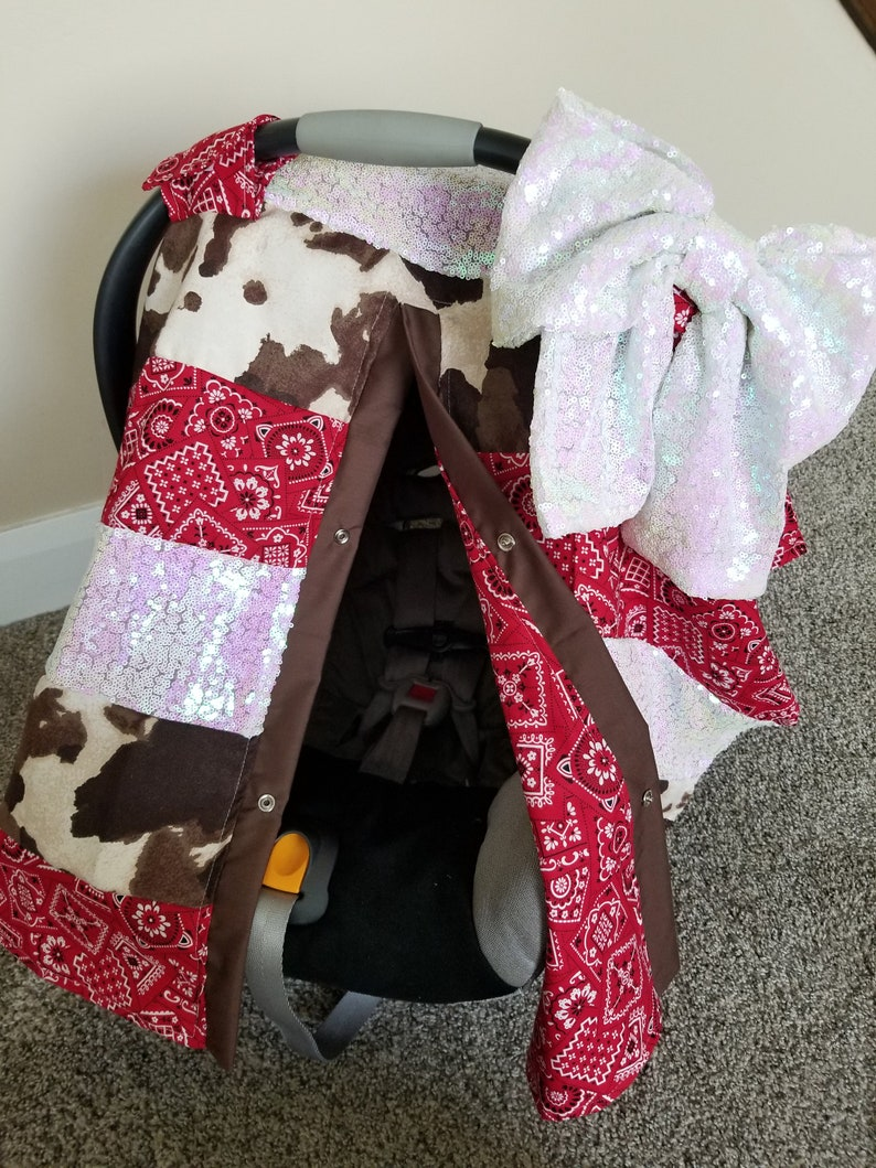 Outstanding Carseat Canopy Western Cowgirl Sequin Strip Car Seat Cover Infant Car Seat Nursing Cover Cowboy Rodeo Bandana Strip Work Cover Gmtry Best Dining Table And Chair Ideas Images Gmtryco