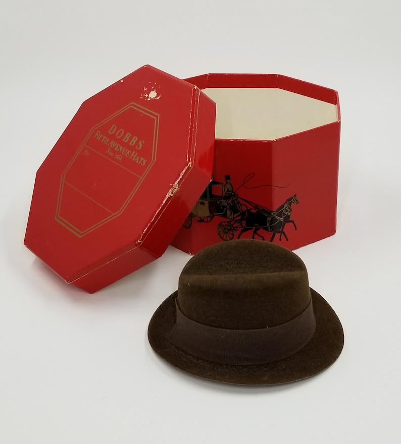 3c1c373f221fb Fedora Hat Fedora Style Hat with Dobbs Fifth Avenue Hat Box