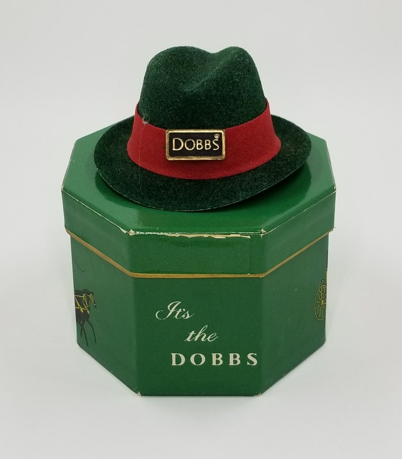 b2e9a0a84d355 Fedora Hat Miniature Fedora Style Vintage Hat with Dobbs