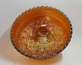 "Imperial Marigold Windmill bowl - 7"""