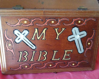 Vintage Cigar Box to store your Bible