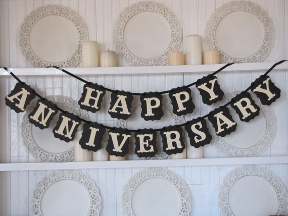 happy anniversary banner anniversary sign anniversary party etsy