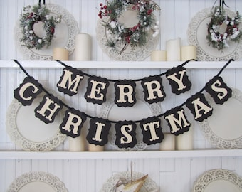 MERRY CHRISTMAS Banner, Merry Christmas Sign, Christmas Sign, Christmas Decoration, Christmas Card Photo Prop, Happy Holidays