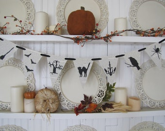 Halloween Bookpage Banner, Halloween Sign, Halloween Decoration, Fall Decor, Autumn Decor, Halloween Party