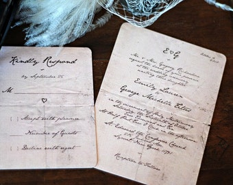 Mr Darcy Handwritten Letter Wedding Invitation Template  + RSVP | Stationery Templett