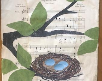 original paper collage 8x6 Squovals No 2