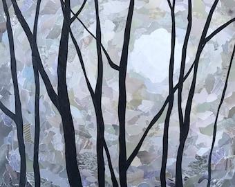 Solitude #3 - original collage - paper collage