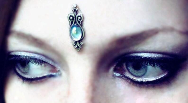 Water Sprite Bindi blue bindi silver bindi little bindi image 0
