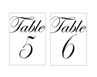 image relating to Free Printable Table Numbers titled Wedding ceremony Desk Figures Etsy CA