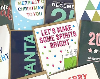 5-card Christmas Bundle, Assorted Christmas Cards, Surprise Pack of Cards