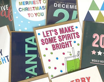 10-card Christmas Bundle, Assorted Christmas Cards, Surprise Pack of Cards