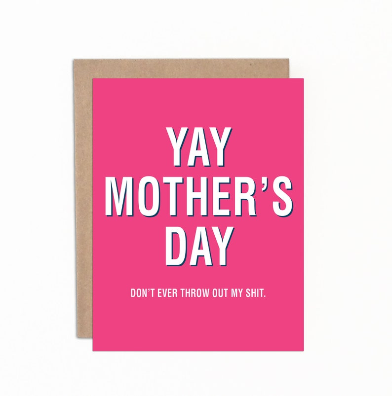 Funny Mother's Day Card Mom Card Card from Daughter image 0