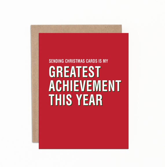Boxed Set Funny Christmas Cards Sending Christmas Cards Is My Greatest Achievement This Year Holiday Cards Made In Canada Adult Awards