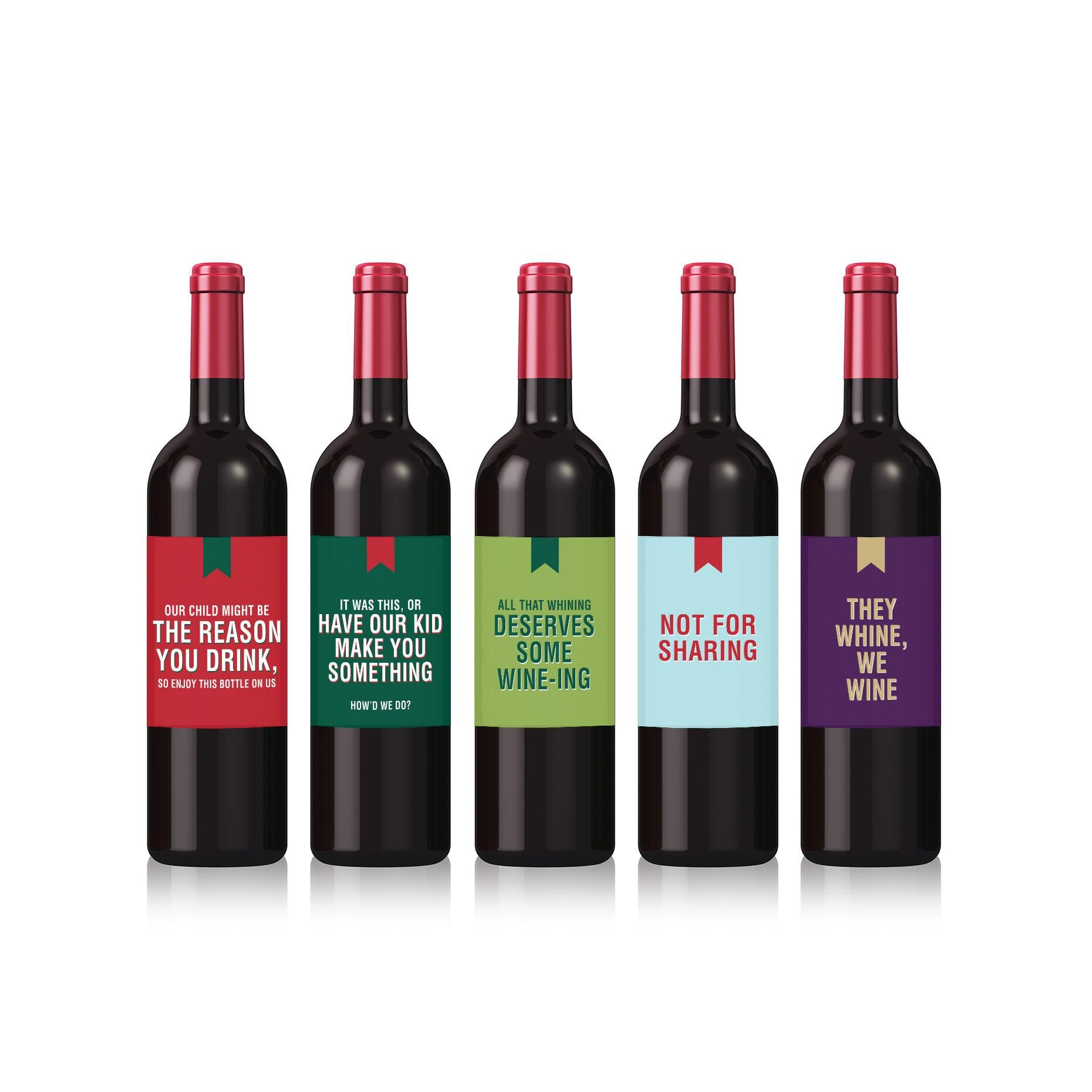 Lustige Weihnachten Wein Etiketten für Lehrer fünf pro | Etsy