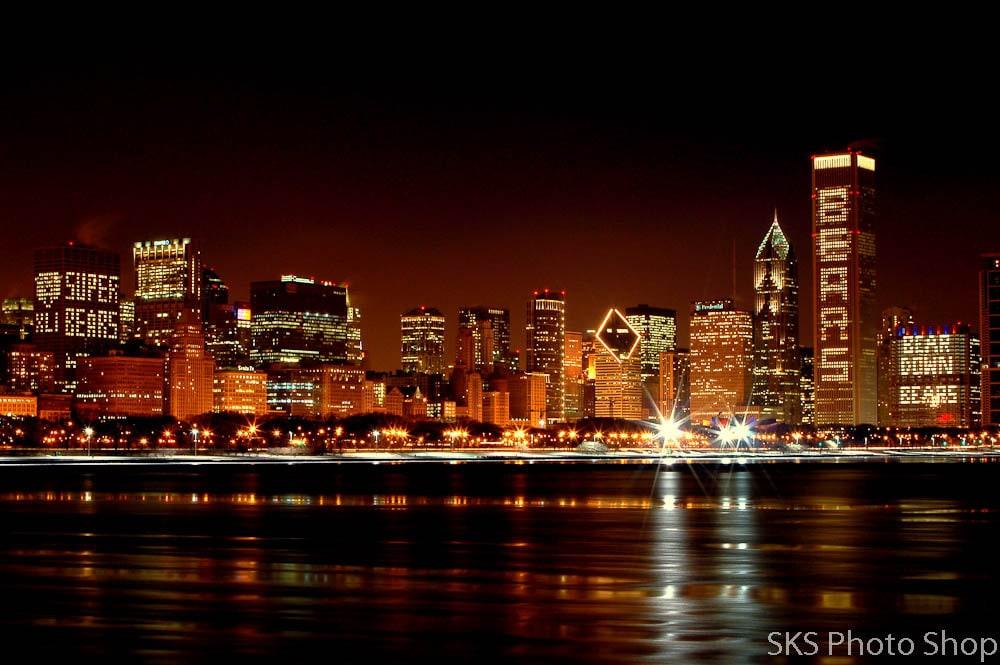 Chicago Bears Chicago Skyline Photo Print Free Shipping  2ca9857cf6e