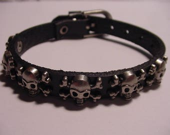 """Skull Bracelet - 8"""" Wrist - Rare Collectible Harley Davidson Willey G Style Look"""