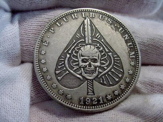 Hobo Nickel Style Morgan DOLLAR SIZE Silver Clad Coin Rare Series