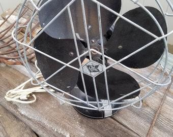 Robbins & Myers Art Deco Base Metal Fan Steampunk Original Classy