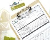 Wedding Music Playlist Worksheet: GEG's Wedding Planning Templates- Digital File PDF, Coordinating, Organizer, DJ Document