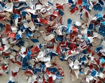 Parade Confetti Glitter {12 Cups} July 4th Confetti, Patriotic, Toss Confetti, Biodegradable Confetti, Bulk Confetti, Wholesale Confetti