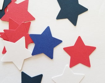 Old Glory Star Confetti {200 pcs} July 4th Confetti, Patriotic Party, First Birthday Party, July Baby Shower Confetti, Americana