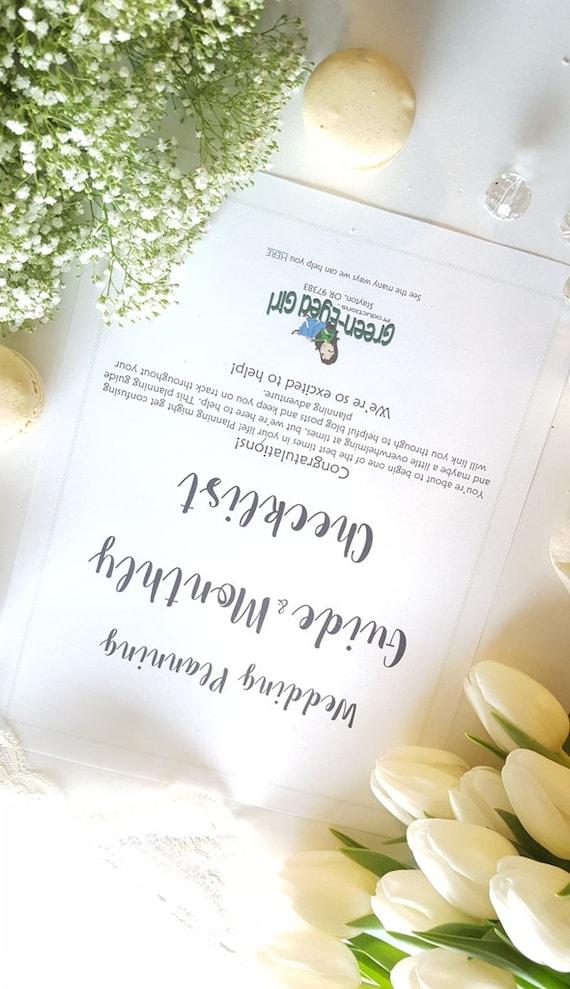 Monthly Checklist Wedding Printable Wedding Planner Binder | Etsy