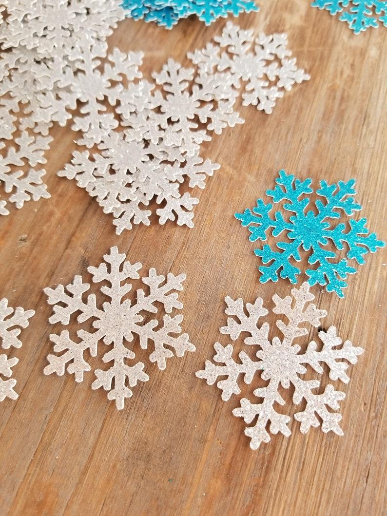 Snowflake Theme Snowflake Confetti Snowflake Birthday Etsy