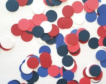 Patriot Polka Dot Confetti {200 pcs} Baby Boy Confetti, Patriotic Party, First Birthday Party, July Baby Shower Confetti, American Theme