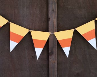 Candy Corn Halloween Banner   Thanksgiving Banner,  Halloween Party Decorations