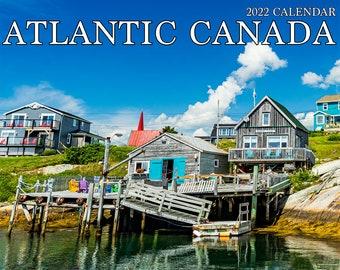 "2022 Large Atlantic Canada Wall Calendar, 12x11.5"", calendar, Nova Scotia, Halifax, Prince Edward Island, New Brunswick, Newfoundland"
